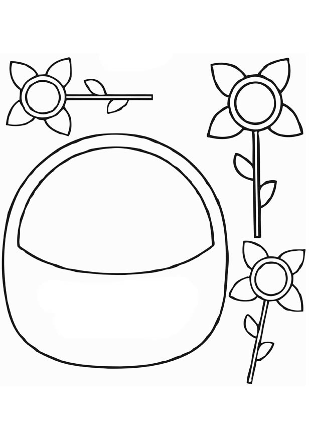 Basket Coloring Page Empty Easter Basket Coloring