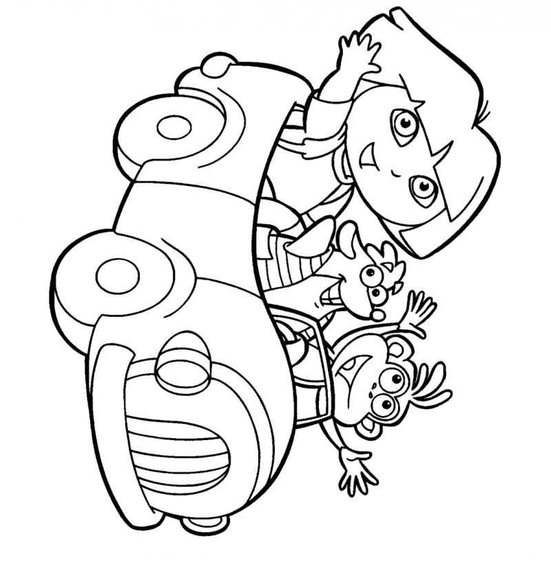 Free dora the explorer coloring pages az coloring pages for Dora the explorer coloring pages printable