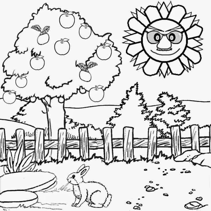 kids coloring pages scenery painting - photo#2