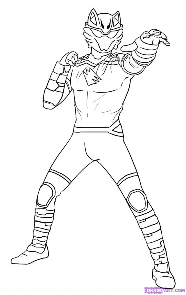 Power Rangers Jungle Fury Coloring Pages Printable Coloring Sheet