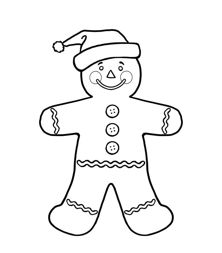 Gingerbread Boy Coloring Pages Az Coloring Pages Gingerbread Boy Coloring Page