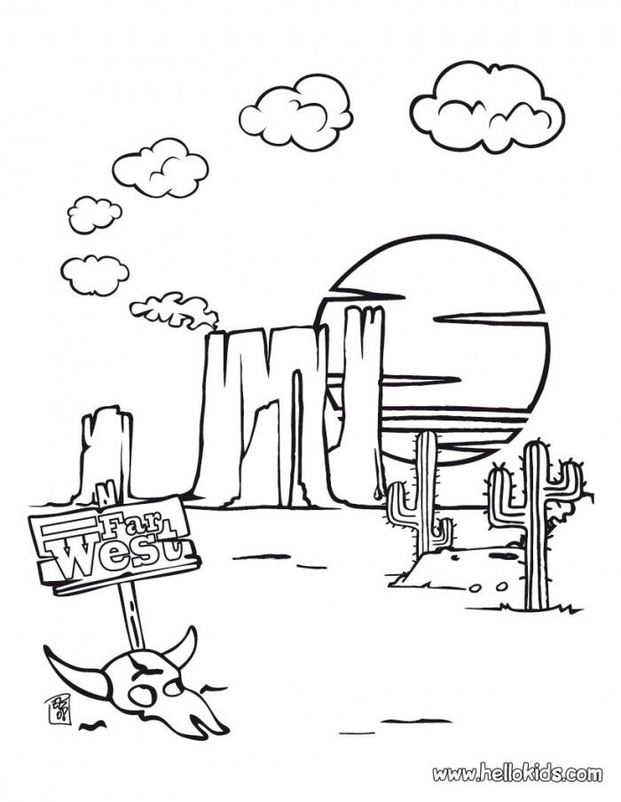 Western Coloring Pages For Kids - Coloring Home