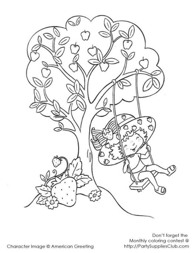 Printable Strawberry Shortcake Coloring Pages Best Resolutions
