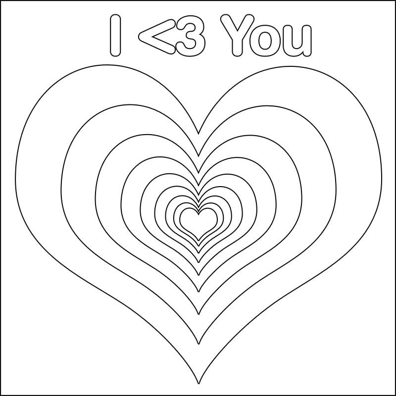 love heart coloring pages - photo#26