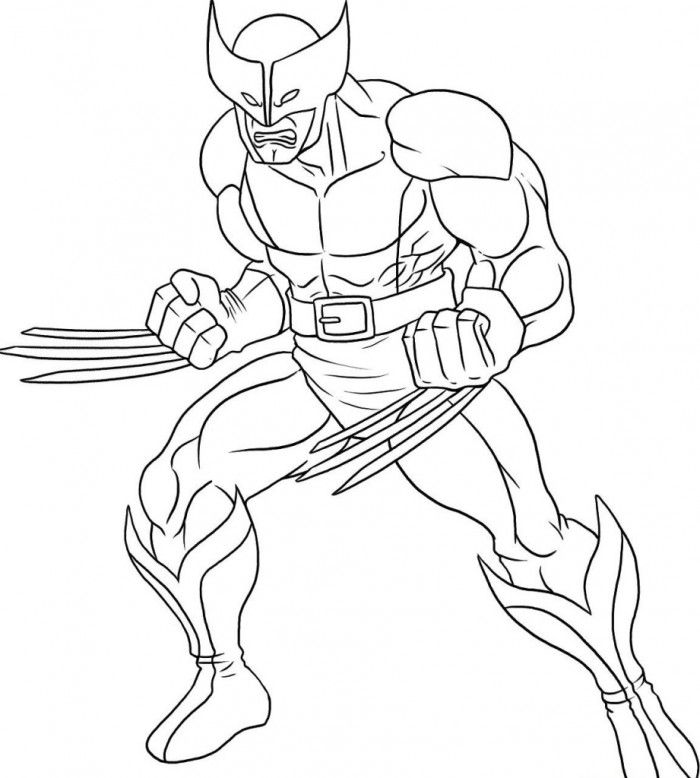 Coloring Page Superhero : Printable Coloring Book Sheet Online for