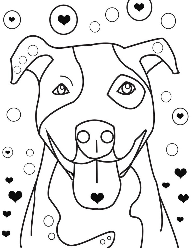 pit bulls coloring pages - photo#25