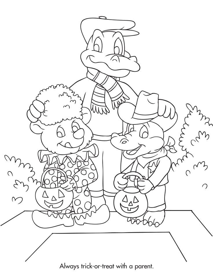 Danger Coloring Pages Halloween Safety Coloring Page