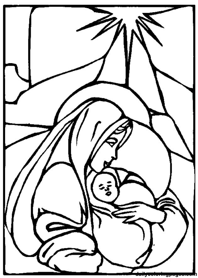 Virgin Mary Coloring Pages - Get Coloring Pages | 885x630