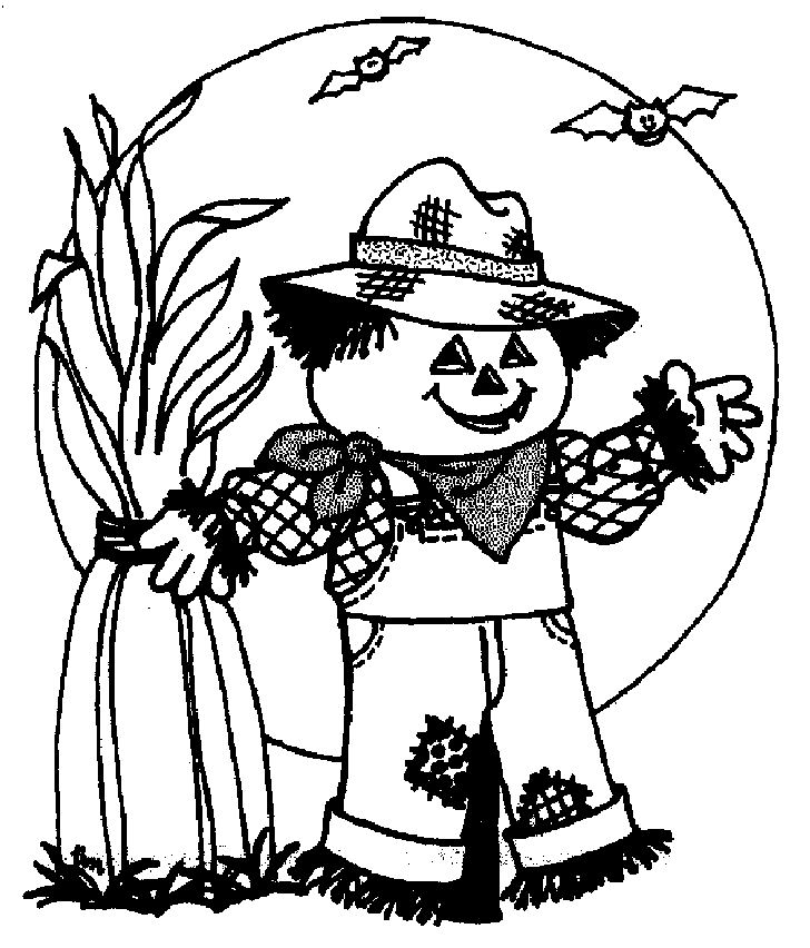 Scarecrow of Halloween Coloring Pages – Free Halloween Coloring