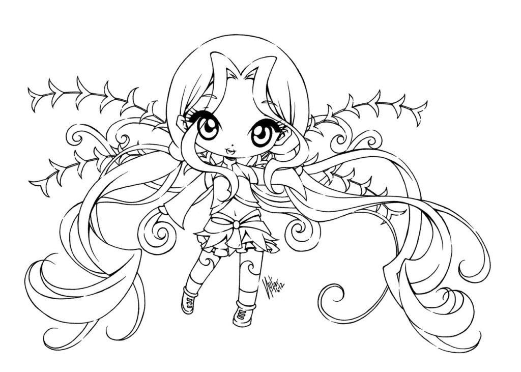 fairy anime coloring pages - photo#28