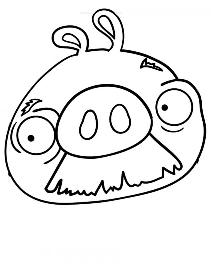 Mustache Pig Coloring Page | 99coloring.com