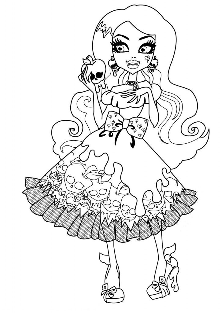 Monster High Coloring Pages For Kids Printable Worksheets