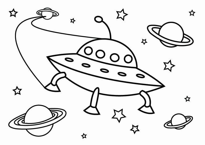 Ufo Coloring Pages - AZ Coloring Pages