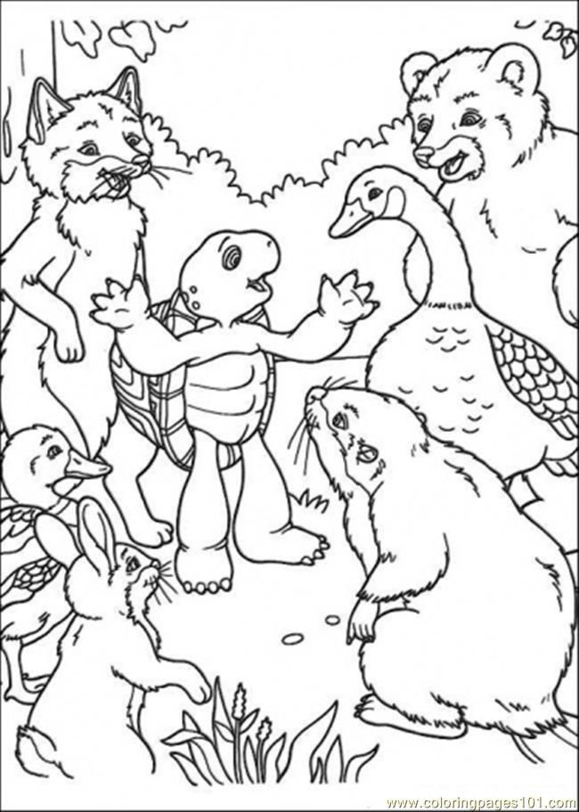 Franklin Turtle Coloring Pages Coloring Home Franklin The Turtle Coloring Pages