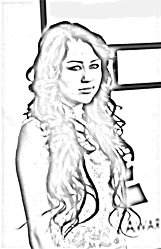 hannah montana coloring pages printout - photo#13