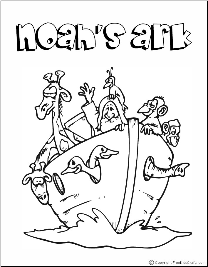 Preschool Bible Story Coloring Pages