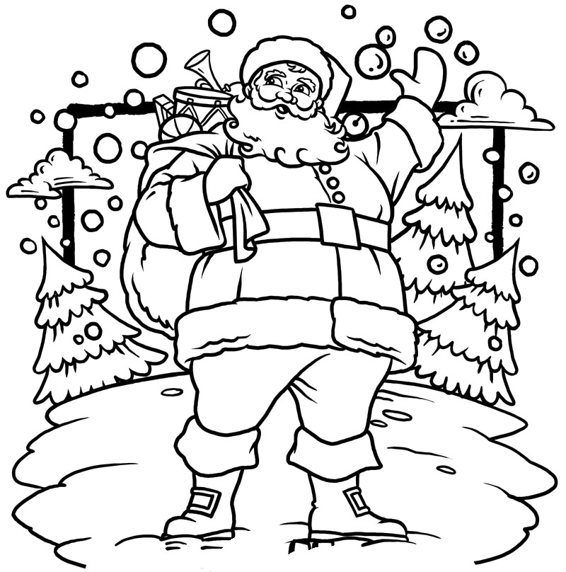 santa christmas coloring pages - photo#26