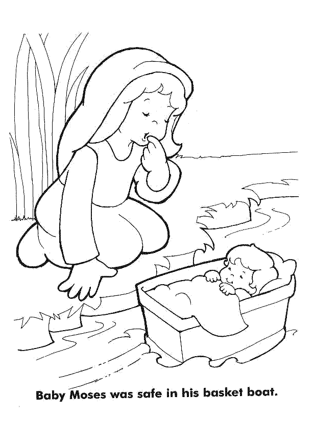 Life of Moses Coloring Pages Kid's Coloring Sheet Page