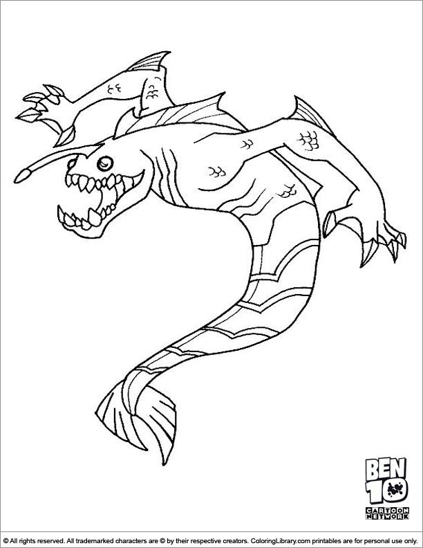 ben ten goop coloring pages - photo#5