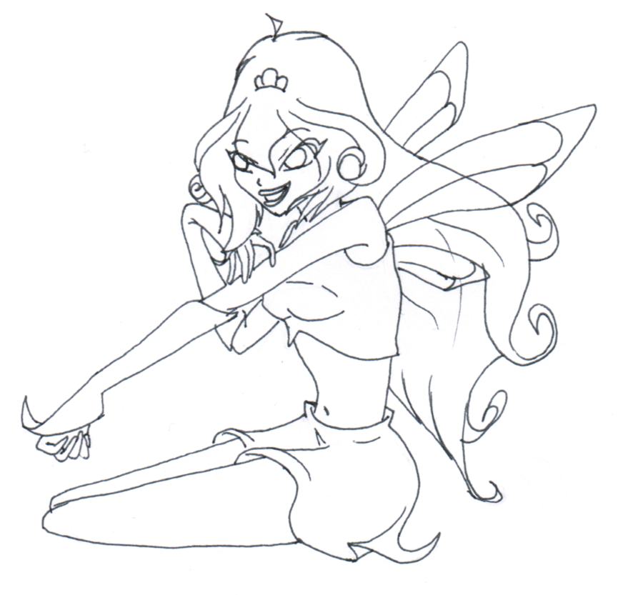 winx club flora coloring pages - photo#35