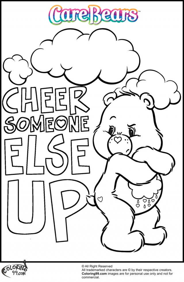 grumpy care bears coloring pages - photo#6