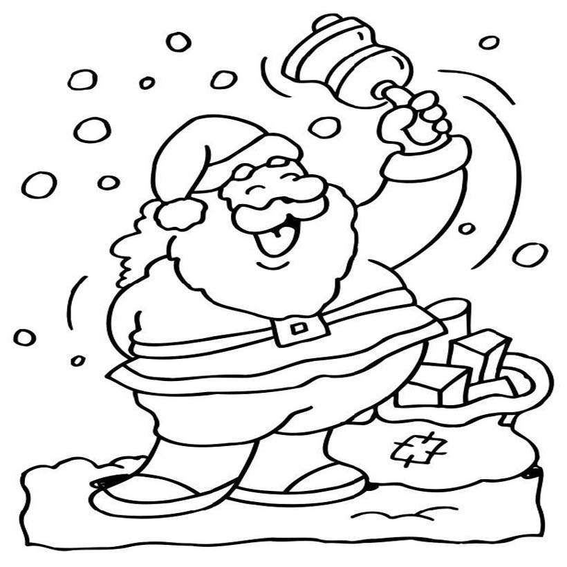 santa claus coloring pictures for kids coloring pics - Pichers For Kids