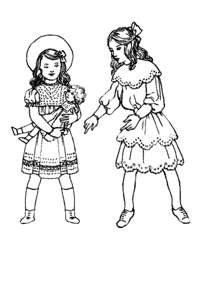 Victorian Coloring Pages Coloring