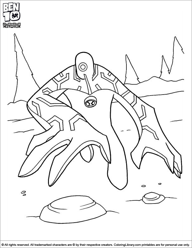 Ben 10 Spider Monkey Coloring Page Coloring Pages