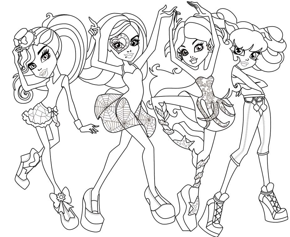 Monster High Coloring Pages (
