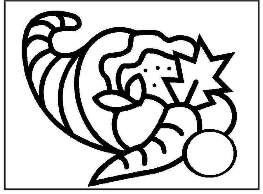 cornucopia coloring pages for kids - photo#11