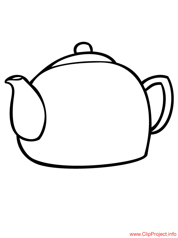 Tea Pot Colouring Pages page 2 Coloring Home