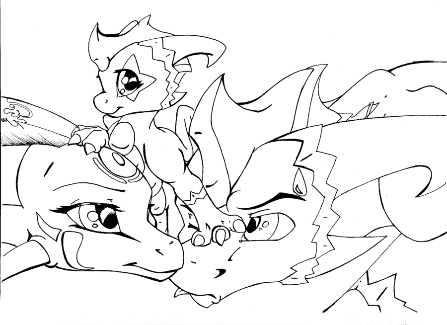 spyro and cynder coloring pages - photo#11
