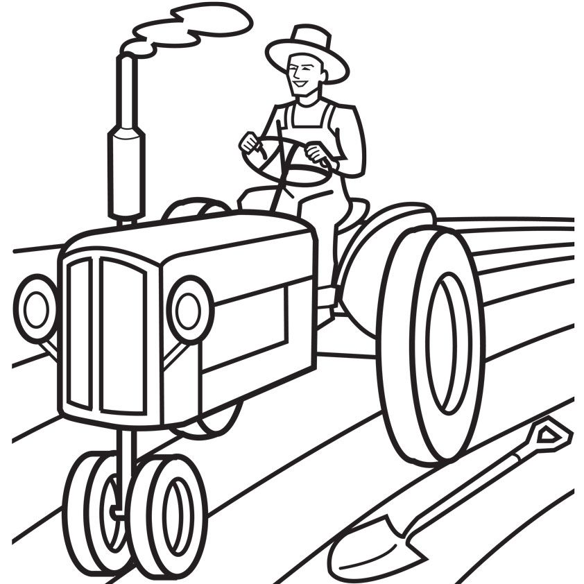tractor coloring pages for toddleers - photo#28