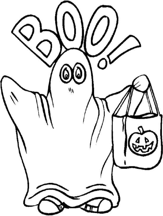 Pix For Halloween Ghost Coloring Page Coloring Home