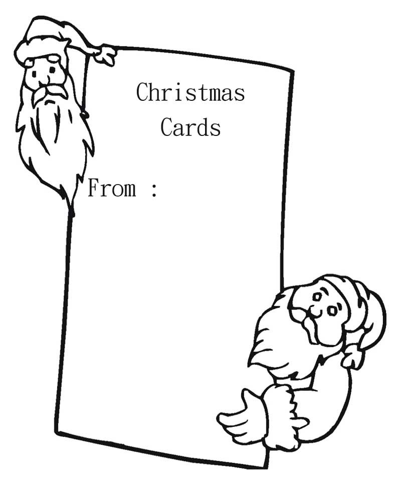 Blank color pages coloring home for Christmas cards coloring pages