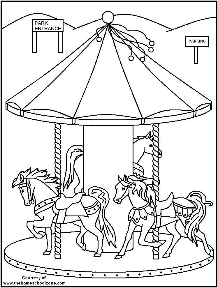 Carnival Coloring Page Coloring Home