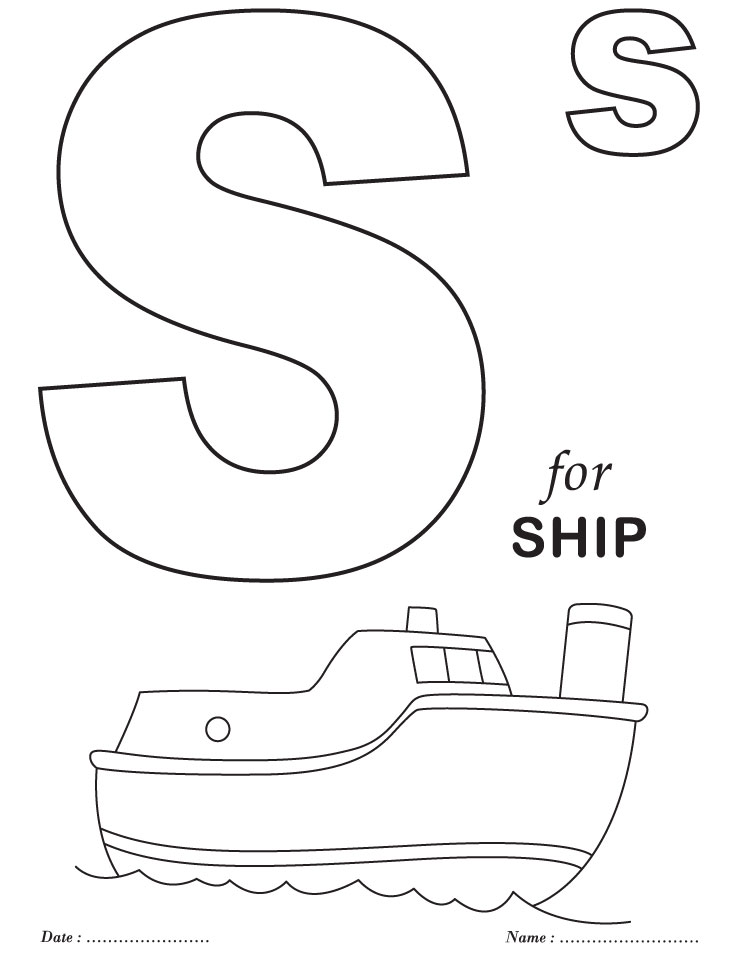 Coloring Pages For Writing : Alphabet coloring pages for preschoolers az