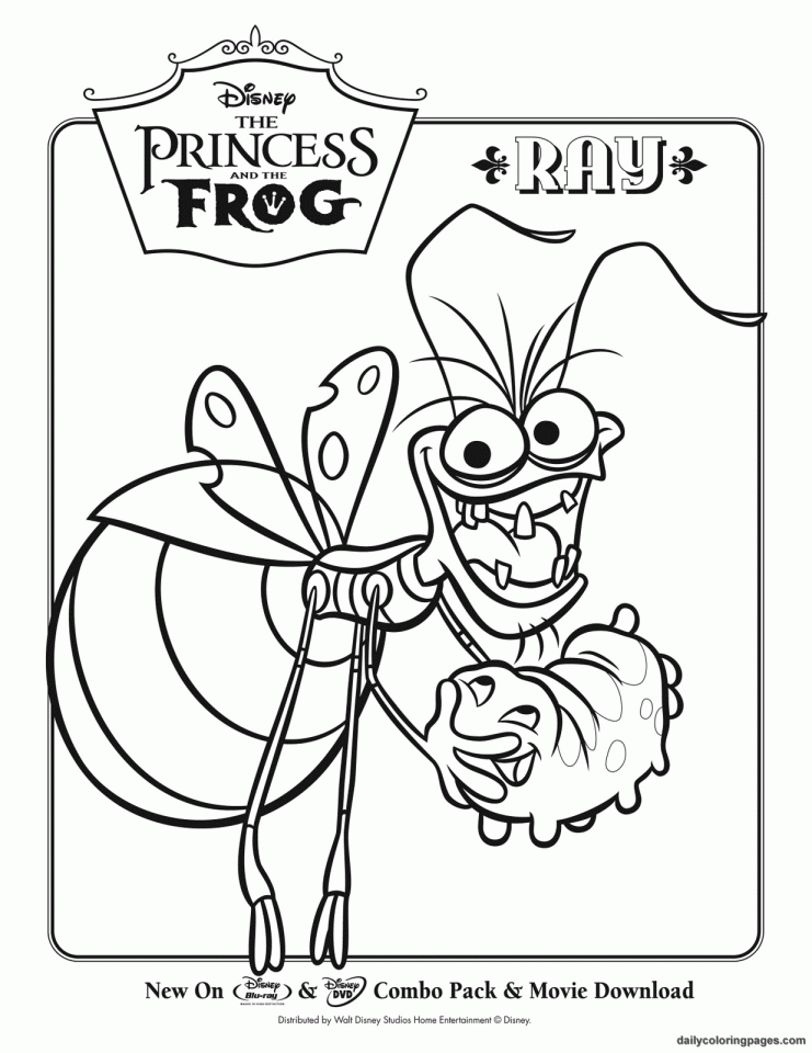 princess and the frog coloring pages coloring home