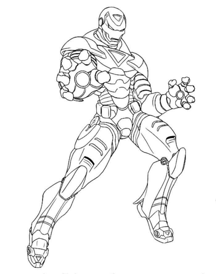 Iron Man Came Forward To Fight Coloring Pages - Superheroes