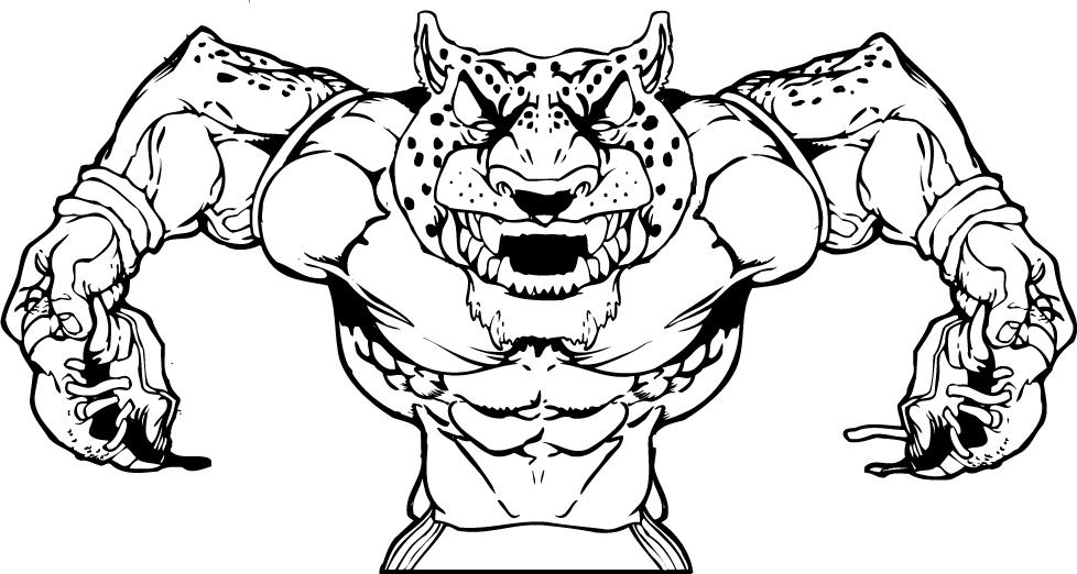 jaguars coloring diagram