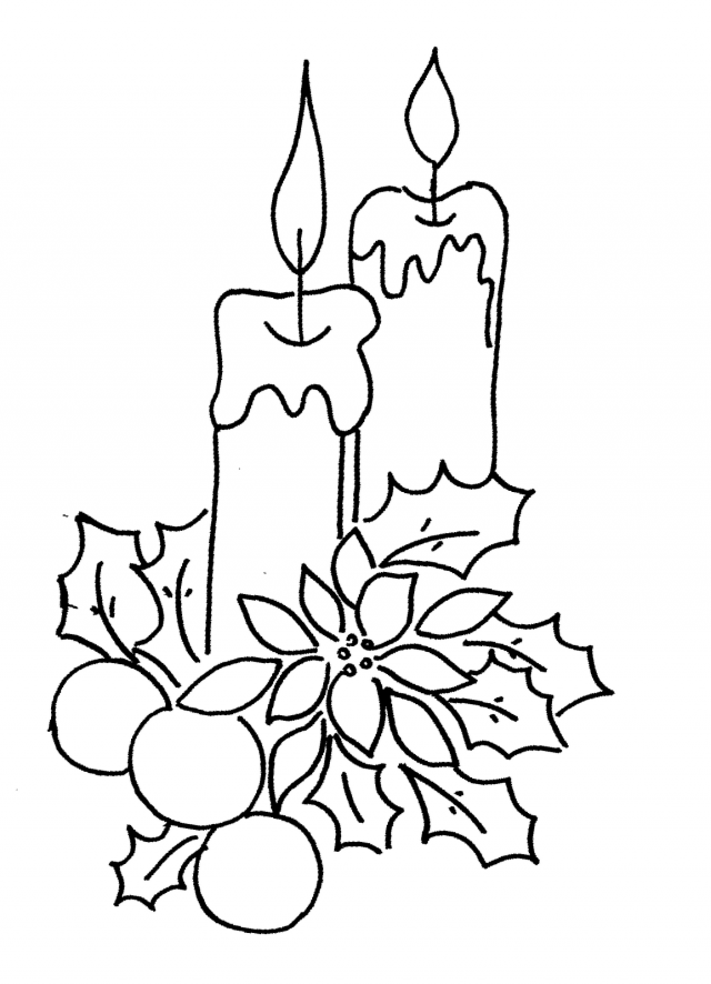 christmas coloring pages children nestled - photo#9
