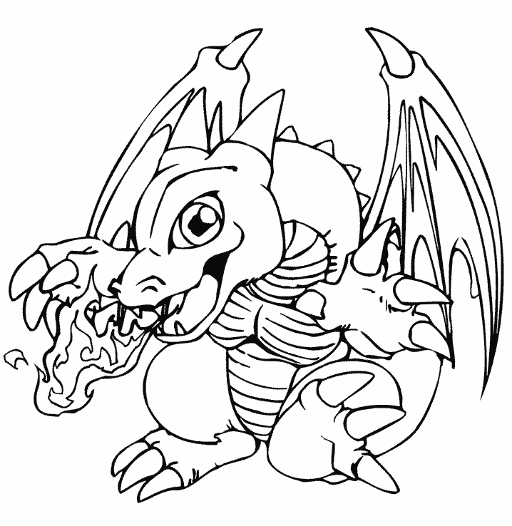 Dragon Coloring Pages For Kids Printable Book