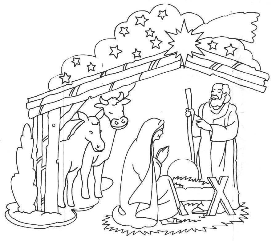 Baby jesus manger coloring page coloring home for Coloring pages baby jesus in manger