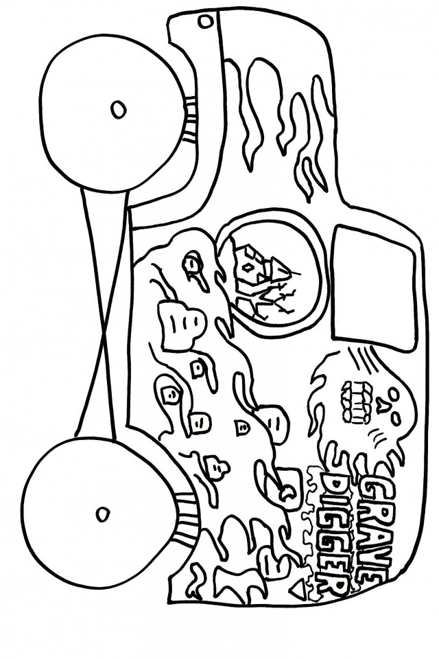 monster jam coloring page az coloring pages