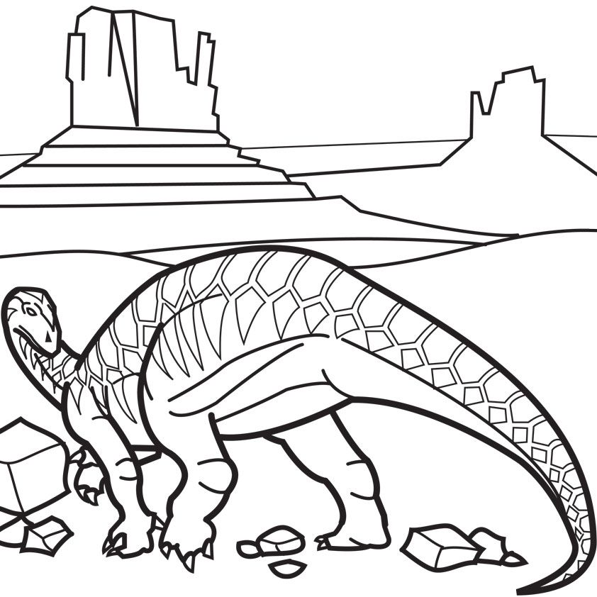 Iguanodon Coloring Page Coloring Home Iguanodon Coloring Page