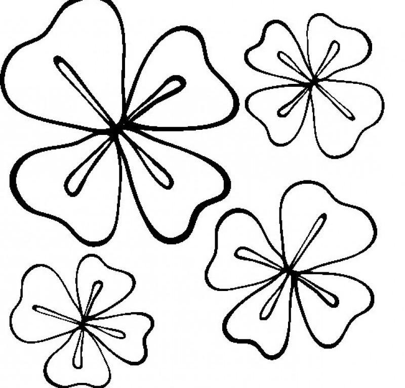 Four Leaf Clover Writing Template Four Leaf Clover That