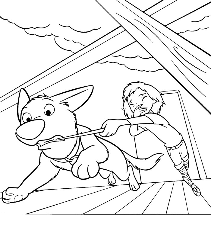 bolt coloring pages for kids - photo#13