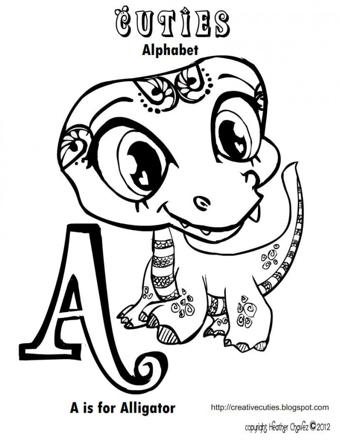 Printable alligator coloring pages az coloring pages for Cute alligator coloring pages