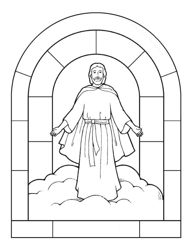 jesuss transfiguration coloring pages - photo#17