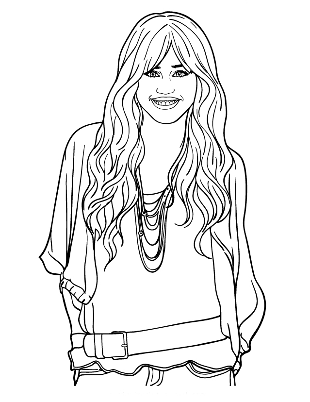 hannah montanta coloring pages - photo#6